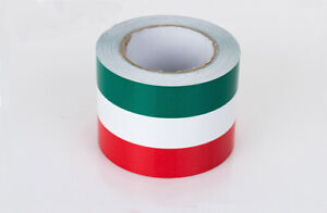 15cm 5m German 3 Color Racing Sticker Body Stripe Vinyl Decal For Euro Italy