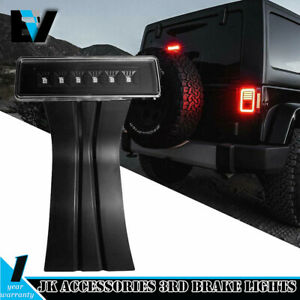 For Jeep Wrangler Yj Tj Jk Accessories 3rd Brake Lights Spare Tire Led Lights