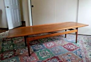 Vintage Danish Modern Teak Coffee Table Grete Jalk