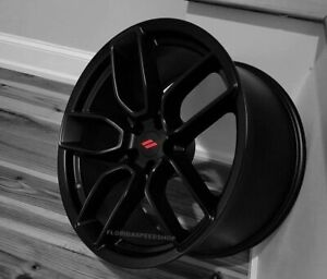 Dodge Hellcat Widebody Satin Black Wheels 20x9 Set Challenger Charger On Sale
