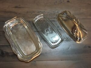 International Silver Company Silverplate Covered Butter Dish W Glass Liner
