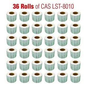 Cas Lst 8010 Printing Scale Label 58 X 40mm Upc 36 Rolls Per Case