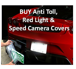 Anti Speed Red Light Traffic Camera Photo Blocker License Plate Cover 4 Covers