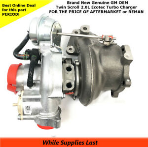 K04 Twin Scroll Turbo Charger 2 0l Ecotec New Gm Oem 12658317 12643932