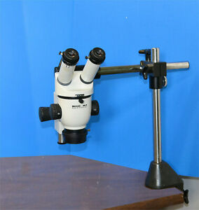 Wild Heerbrugg M3b Stereo Microscope With Stand Light Leica