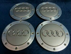 Audi A4 98 01 Silver Machined Center Caps Set Of 4 Fits The 15 Wheel