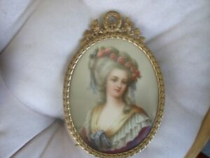 Antique Hutschenreuther Porcelain Plaque Kpm Wagner