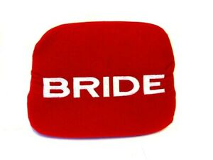 X1 Jdm Bride Racing Red Tuning Pad For Head Rest Cushion Bucket Seat Racing