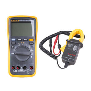 Fluke 17b Auto Range Digital Multimeter With An Ac Current Transducer Ms3302