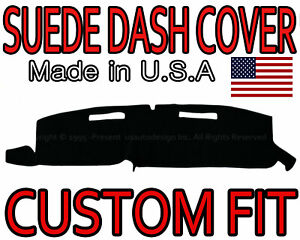Fits 1981 1991 Gmc Jimmy Suede Dash Cover Mat Dashboard Pad Black