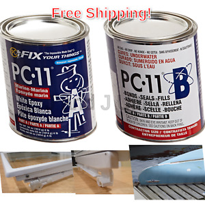 Pc products Pc 11 Epoxy Adhesive Paste Two part Marine Grade 4lb In Two Can