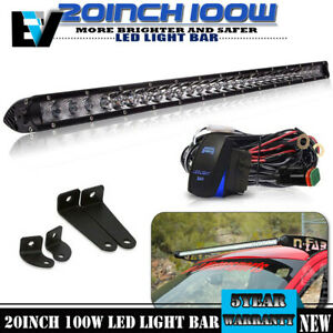 Slim 20inch Single Row Led Light Bar For Off Road Ford Truck 100w 10000 Lumens