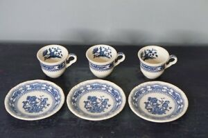 Clearance Antique Mason S Ironstone Manchu Blue White Demitasse Tea Cups And S
