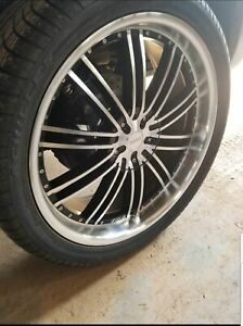 4 24 Like New Kronik Painkiller Rims With Tires