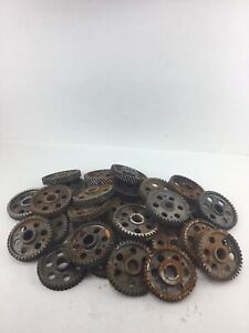 Lot Of 31 Industrial Machine Steampunk Pulley Gear Cog Lamp Base Rusty