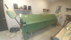 Chicago 10 Metal Brake Good Condition With Five Molds Heavy Angle