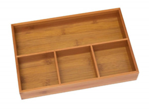 Wooden Desk Organizer Office Supplies Wood Mesh Tray Drawer Compartment Case