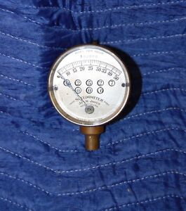 1908 1912 Jones Brass Speedometer Antique Car Motorcycle Model T Ford Accessory