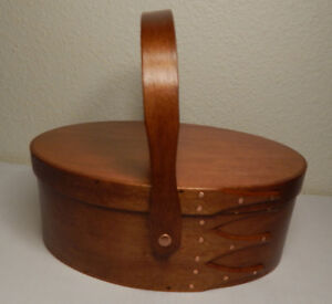 Shaker Style Box Swing Handle Maple Wood Colonial Stain No 4