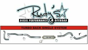 Flo Pro 4 Ss Turbo Back Exhaust W Muffler For 89 93 Dodge 5 9l Cummins Ss847