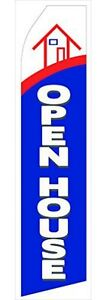 Open House Flag Advertising Kit 16ft Tall With Pole Ground Spike Hardware