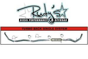Flo Pro 4 Turbo Back Ss Exhaust With Muffler 94 00 6 5l Gm Duramax Diesel Ss822