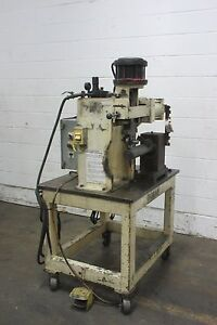 Cadillac Air Actuated Roll Marking Engraving Machine Used Am15634