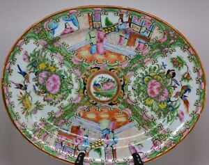 Antique Chinese Rose Medallion Tray 12 X 10 Inches No Mark