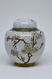 Vintage Chinese Cloisonne Ginger Jar 4 Inches Tall