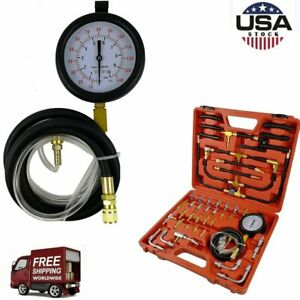 Tu 443 Manometer Fuel Injection Pressure Tester Gauge Test Adapter Kit Versatile
