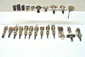 Vintage Switches Lot Of 23 Toggle Lever Rotary Push Button Phenolic Steam Punk