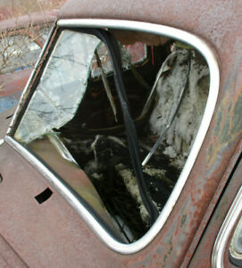 1941 Cadillac Series 61 4 Door Left Front Windshield Stainless Trim