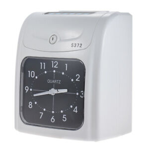 Electronic Attendance Time Clock Thermal Cards Employee Recorder Desktop Q0g4