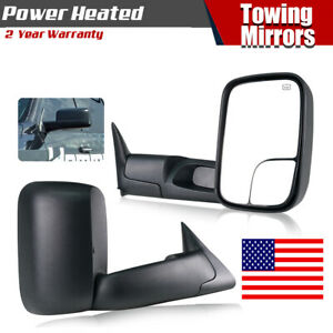 2pc Towing Mirrors For 1998 2001 Dodge Ram 1500 1998 2002 2500 3500 Power Heated