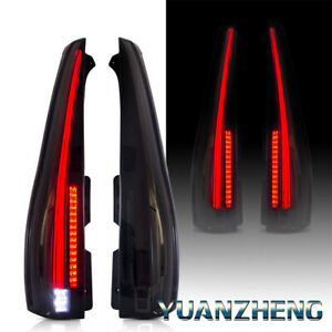 Vland Fit 2007 2014 Cadillac Escalade Esv Led Tail Lights Rear Lamp Smoke Lens