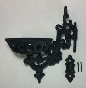 New 9quot; Cast Iron Wall Bracket For Oil Lamps Early American Victorian Style $40.99