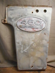 Farmall 460 Right Lh Grille Side Panel W Emblem 375234r91 2 Accessory Holes