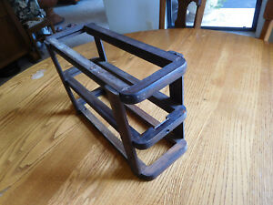 Antique Singer Treadle Sewing Machine Wood Drawer Frame Left Side With Brackets