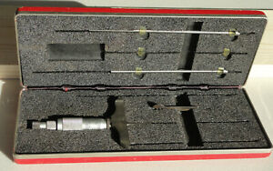 Starrett No 445 Depth Micrometer 0 6 Inch Set Tool Die In Case