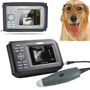 Medical Portable Veterinary Wristscan Ultrasound Scanner System W Rectal Probe