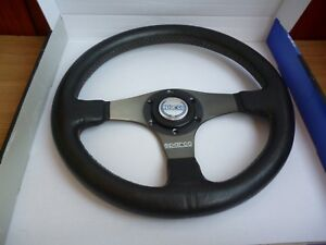 Rare Leather Sparco Tuning Steering Wheel Small 32cm With Original Box