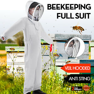 Beekeeping Protective Suit Full Veil hooded Anti Sting Safe Cotton Thickened