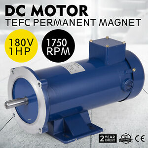 Dc Motor 1 hp 56c Frame 180v 1750rpm Tefc Magnet Permanent Applications Dynamic