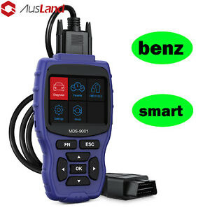 For Benz Smart Obd2 Abs Srs Tpms Injector Scanner Diagnostic Dtr All System Tool