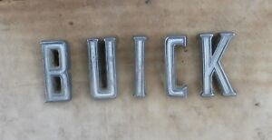 1961 Buick Invicta Trunk Lid Letters S