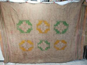 Vtg Kilim Rug Large Muted Colors 6 2 X 8 9 Area 100 Wool Hand Knotted Carpet