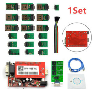 1set Latest V1 3 New Upa Usb Programmer With Full Adaptors Support Nec Function