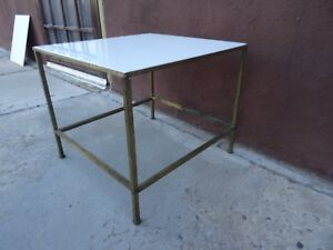 Pair Vintage Mid Century Calvin End Tables Paul Mccobb Planner Group Vitrolite