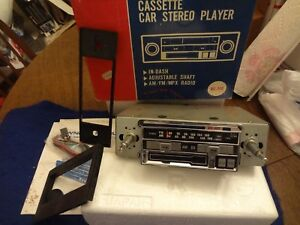 Nos Vtg Rare In dash Cassette Car Stereo By Afco Corvette must euro classic Wow