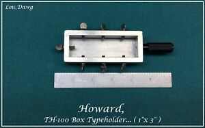 Howard Machine Personalizer Th 100 Box Type Holder Hot Foil Stamping Machine